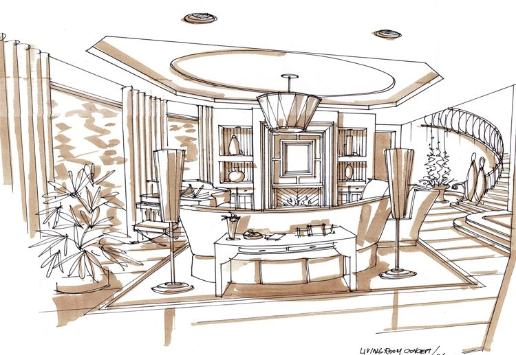 A pretty fantastic article on what interior designers for Interior design sketches