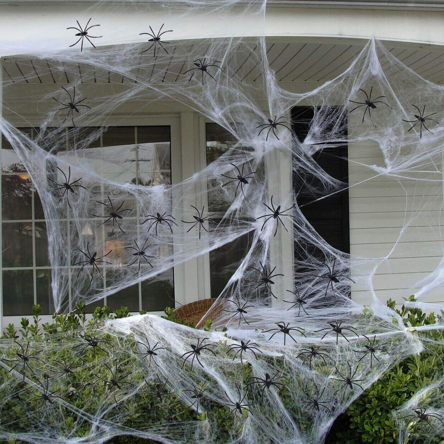 White Spider Web Looks Like Real Cobwebs, Adding An Eerie