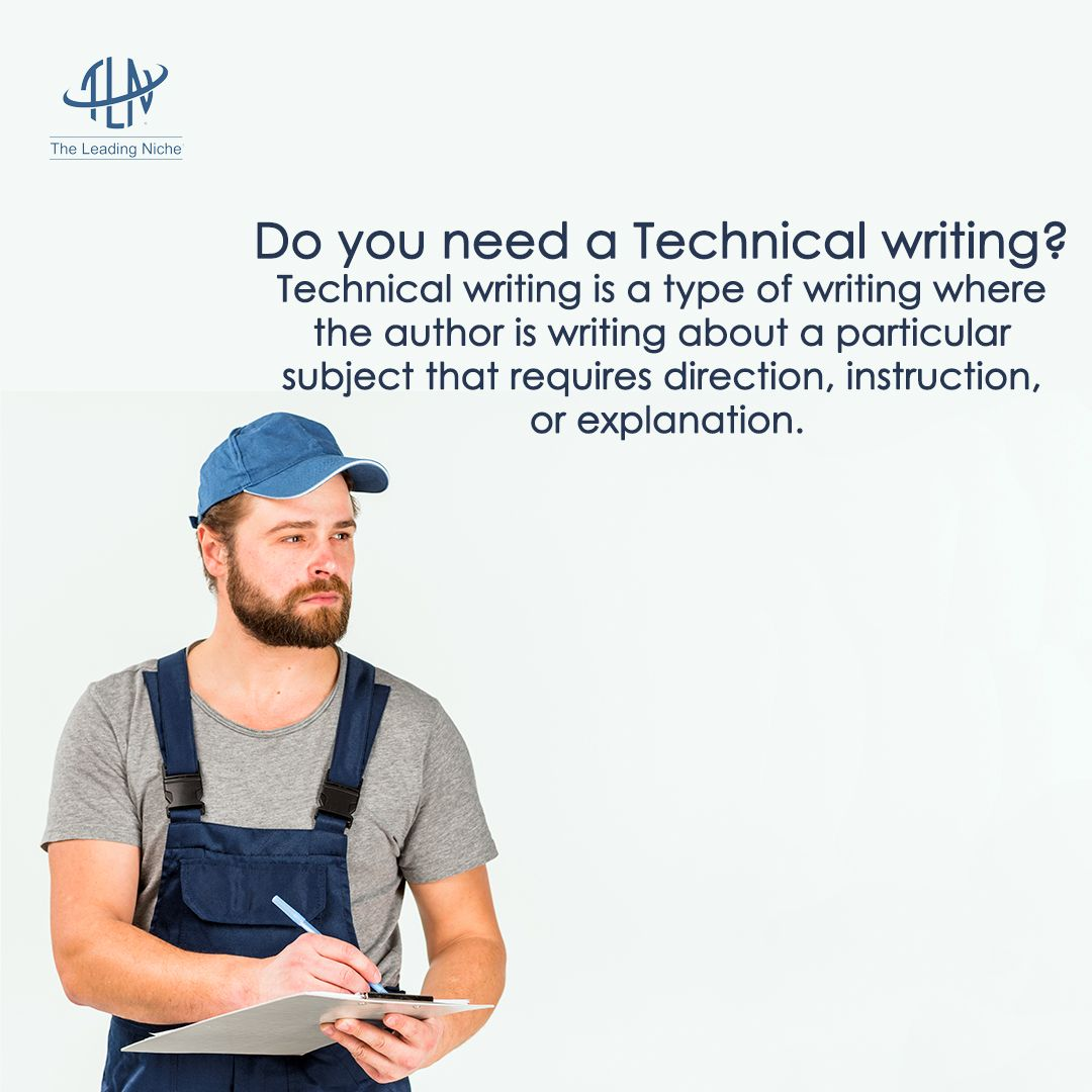Technical writing is a type of writing where the author is