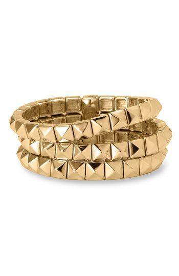 Nordstrom Three Row Pyramid Bracelet