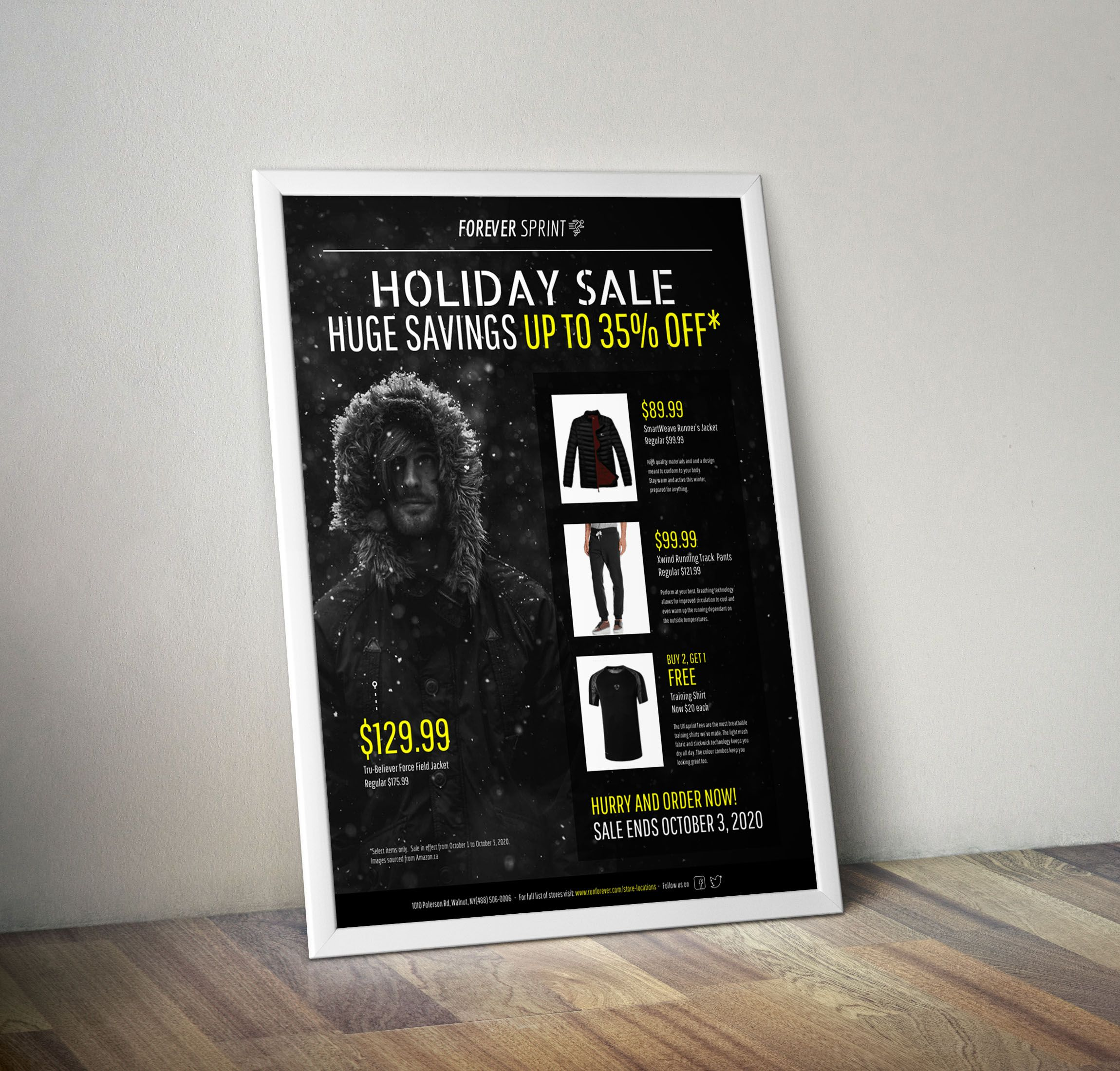 modern black yellow holiday sales flyer idea venngage flyer
