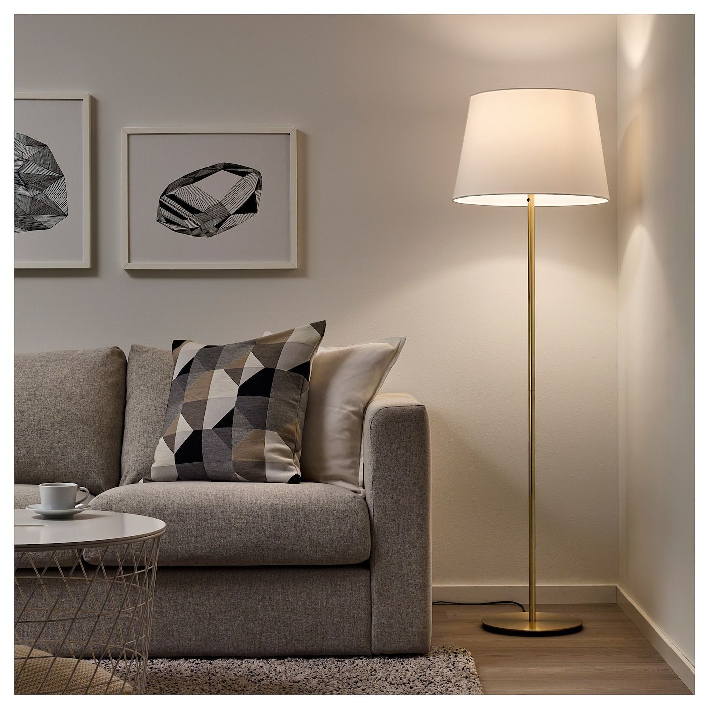 Skaftet Floor Lamp Base Brass Color Ikea Floor Lamp Base Floor Lamp Floor Lamps Living Room