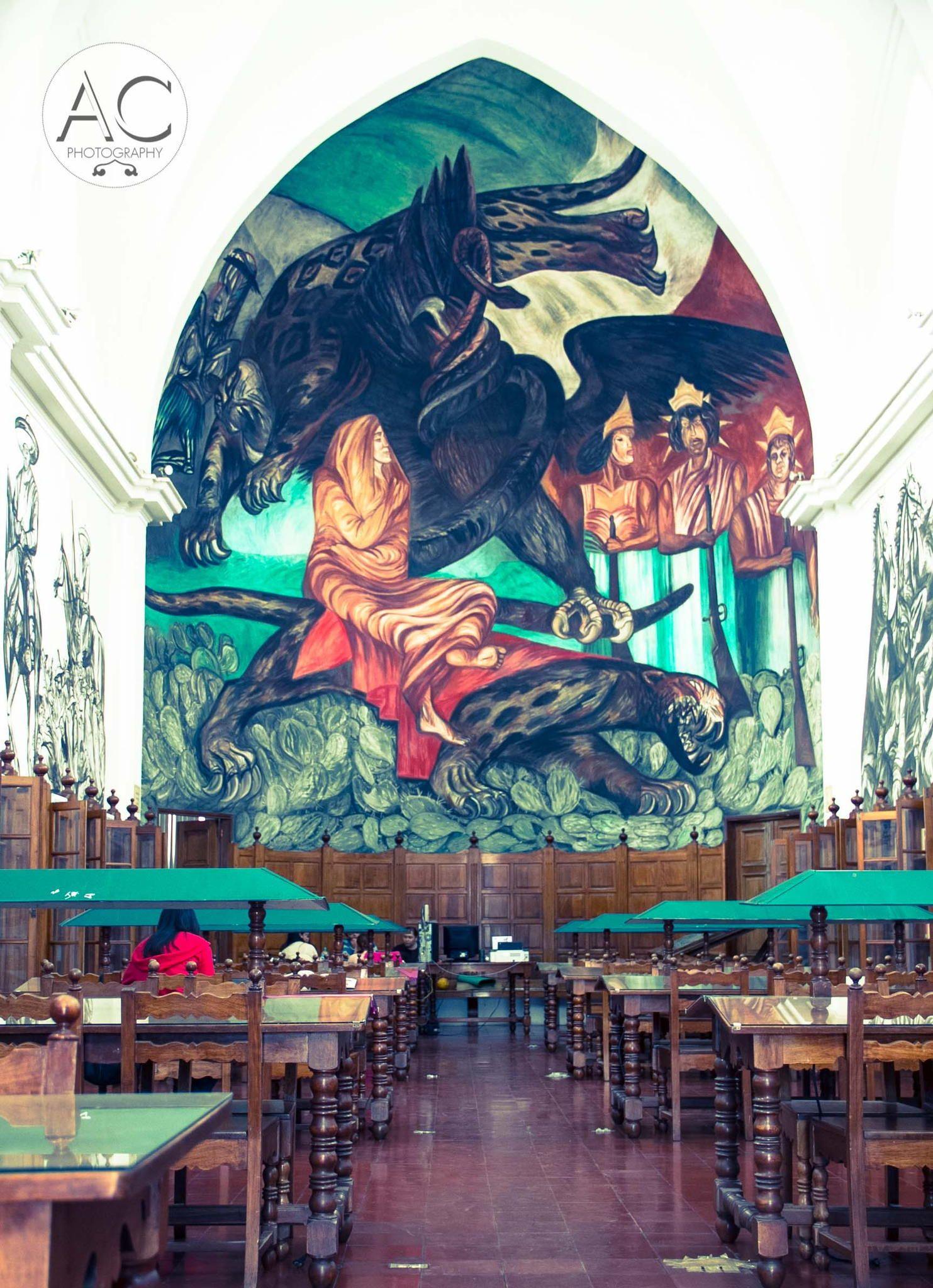 Gabino Ortiz Library At Jiquilpan De Juarez Michoacan Mural By  # Muebles En Jiquilpan Mich