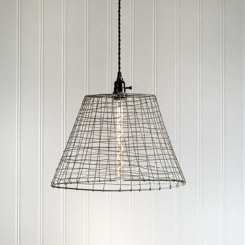 Wire basket pendant lamp lamps pinterest pendant lamps wire