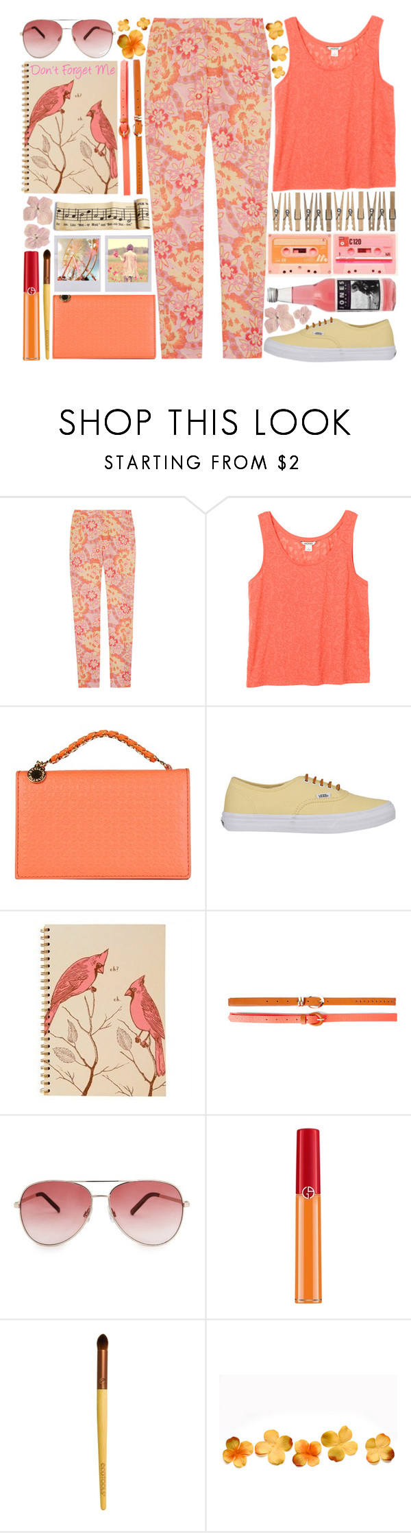 """Don't Forget Me"" by heartart ❤ liked on Polyvore featuring Erdem, Monki, STELLA McCARTNEY, Vans, Polaroid, Pull&Bear, MANGO, Giorgio Armani and EcoTools"