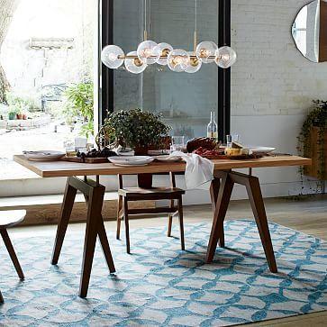 Expandable Farmhouse Dining Table Sundried Wheat Expandable