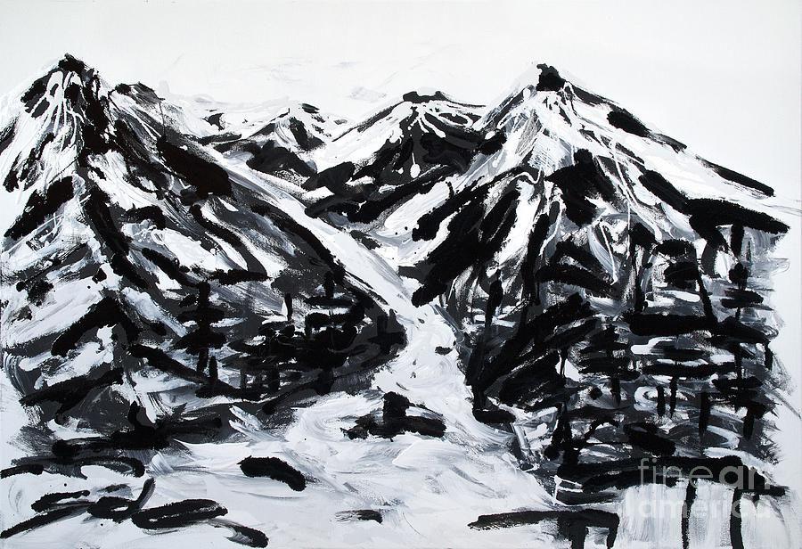 alps-black-and-white-painting-lidija-ivanek.jpg (900×616) | B&W ...