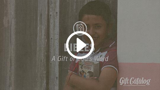 Bibles for Children - Compassion International - instead of