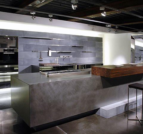 EMB Edelstahl KüchenMöbel Moderne küche, Offenes regal