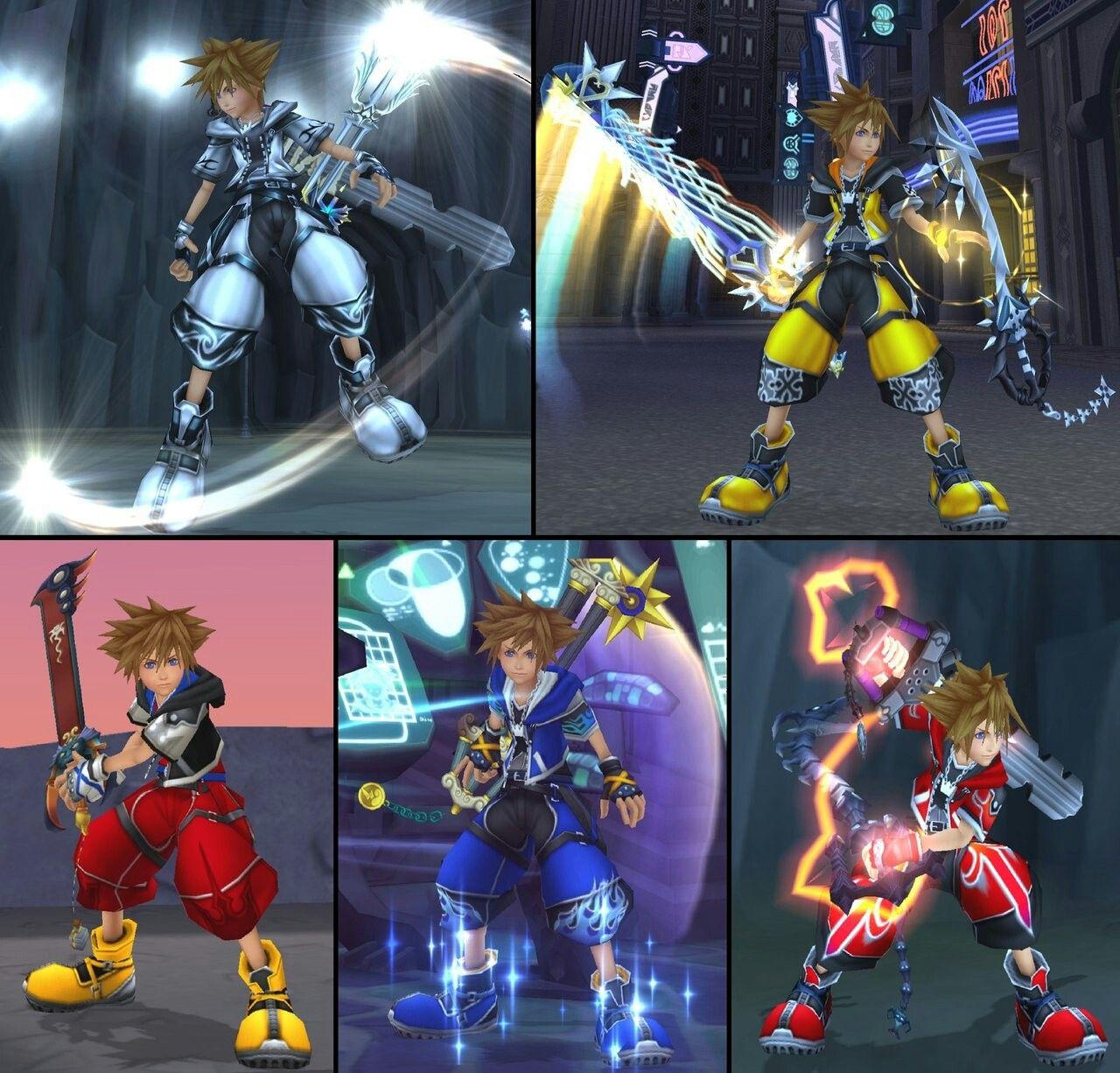 Sora Kingdom Hearts Kingdom Hearts: Keyblade Weilding Sora Forms
