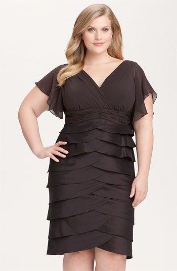 Adrianna Papell Flutter Sleeve Tiered Dress 21f7d0e61659
