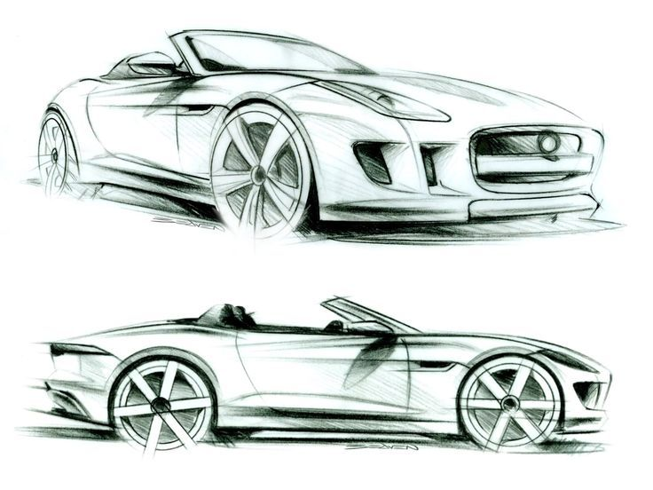Great Jaguar F Type   Design Sketches