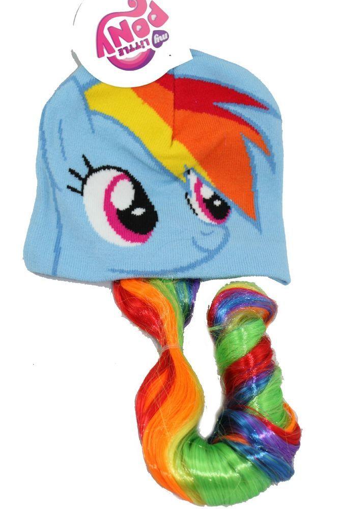 33a19cc677fdf My Little Pony RAINBOW DASH Laplander Beanie Hat HAIR Tails Braids Girls  Cap NEW  MyLittlePony  Laplander