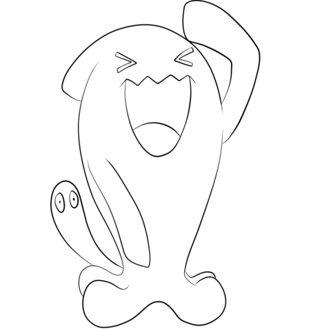 Wobbuffet Coloring Page Coloring Pages Cute Coloring Pages Free Printable Coloring Pages