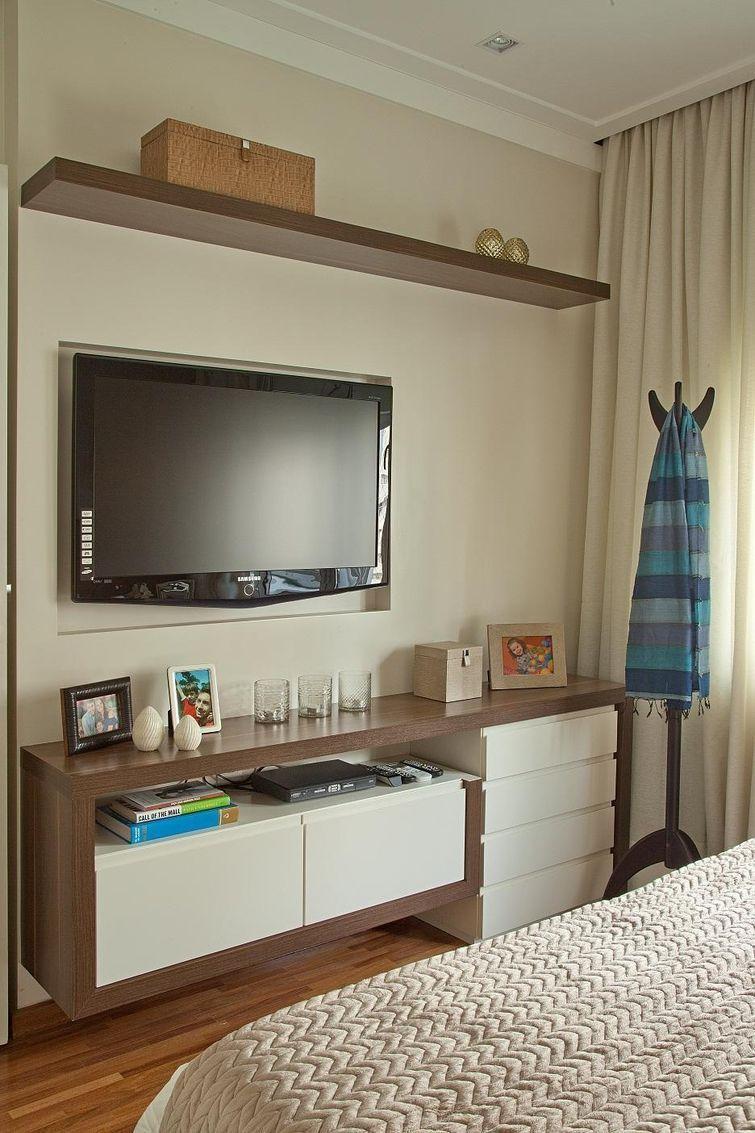33 Ideias Para Decorar Quartos Pequenos Quartos Bedrooms And House ~ Quarto Casal Pequeno Modulado E Comoda Branca Para Quarto