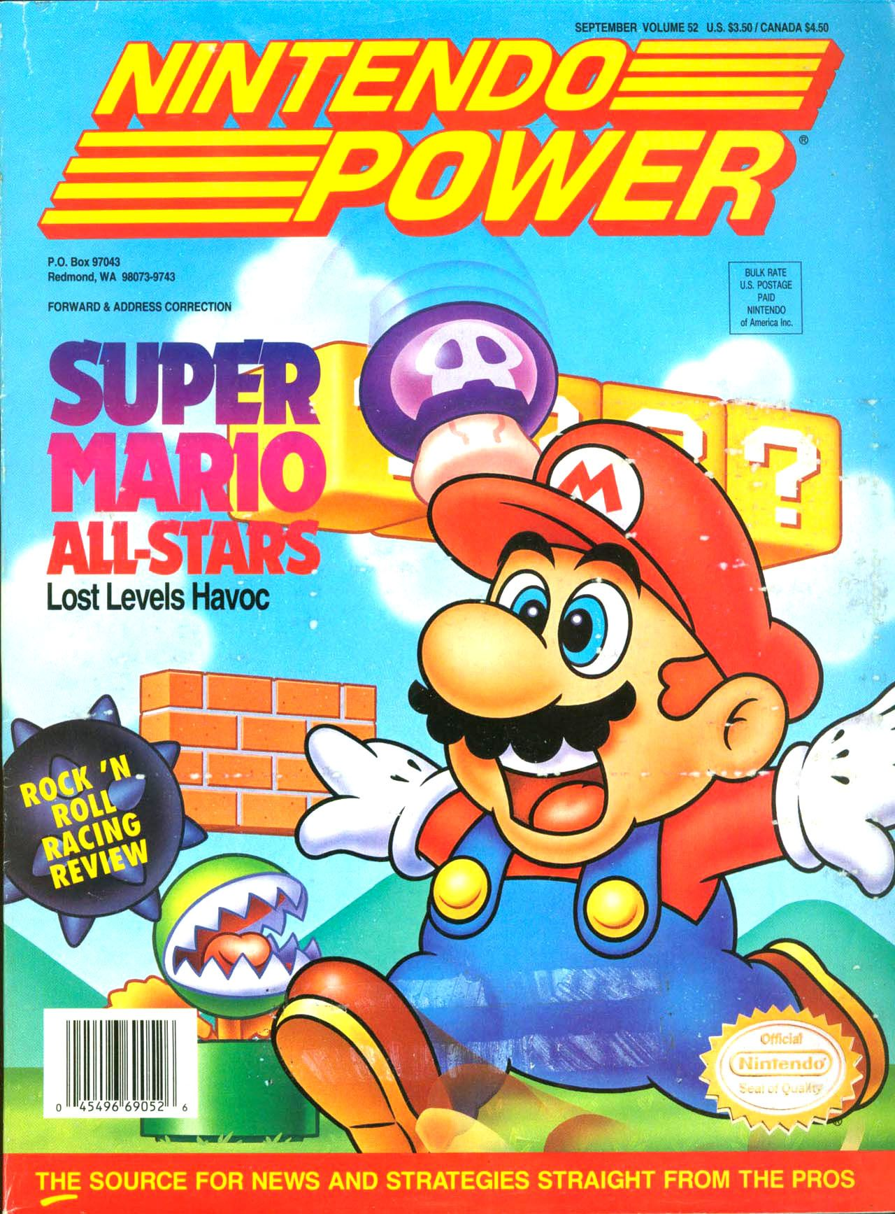 Nintendo started business back in 1887 where they originally made card - Nintendo Power Issue 52 Super Mario All Stars Cover