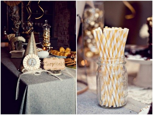 Chocolate Gold Sparkling 30th Birthday Party Inspiration
