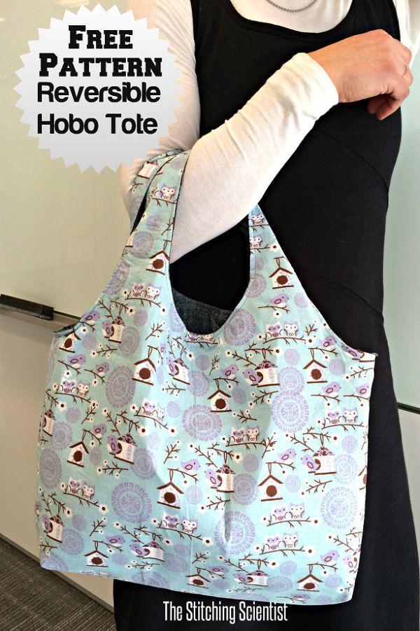 Free pattern  Reversible hobo tote  21fbdbb593177
