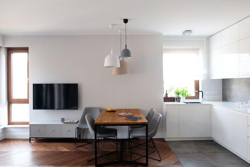 Salon Z Kuchnią I Jadalnią Kuchnia Styl Nowoczesny Porady I