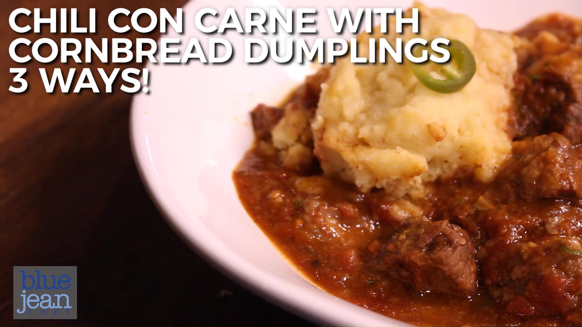 Photo of Chili con Carne with Cornmeal Dumplings