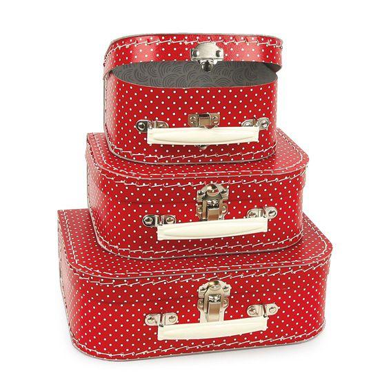 Cardboard Suitcase Set - Egmont Toys Red Dot Toy Cases Set | Room ...