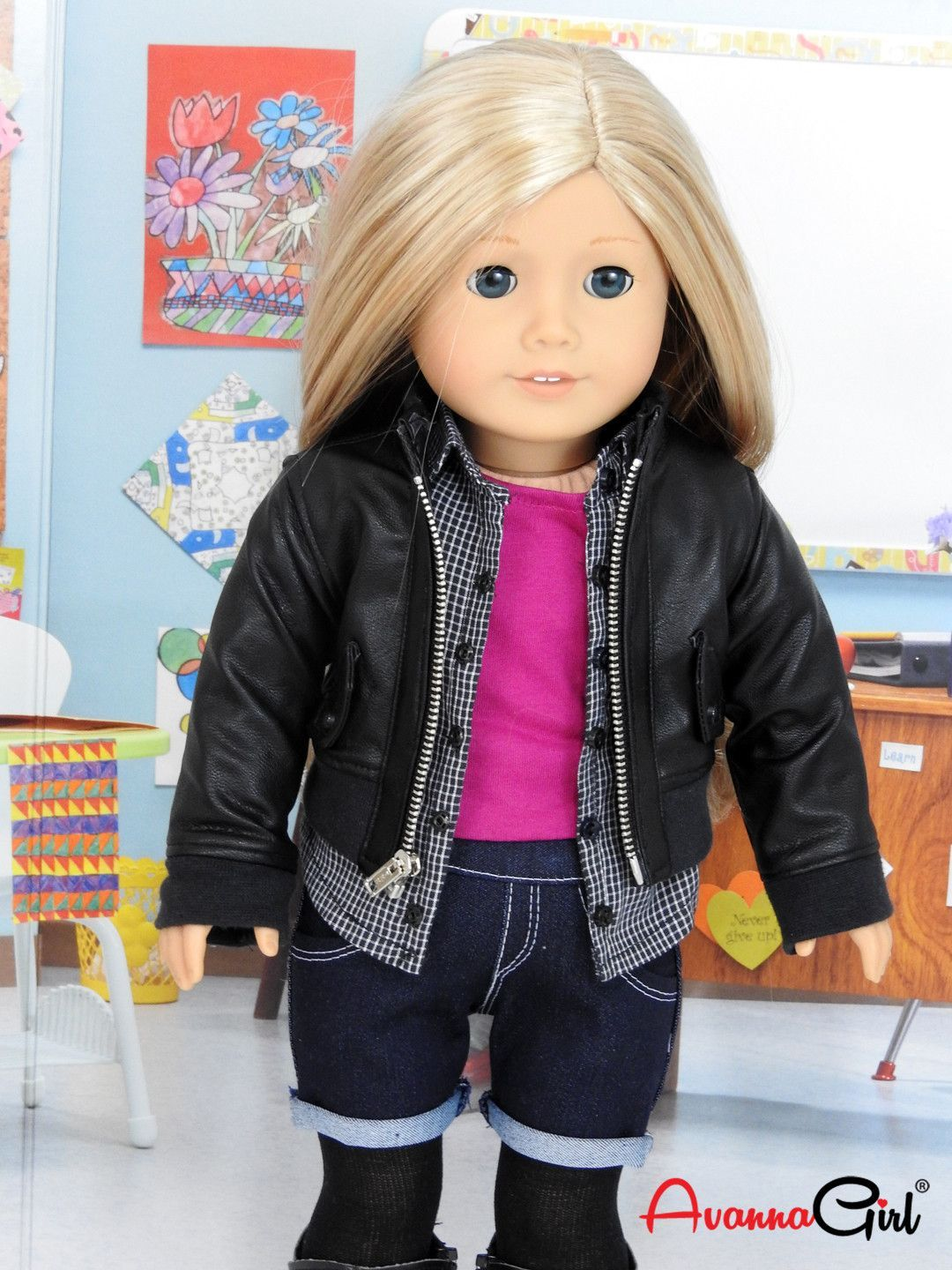 Back to School Hoody Outfit 18 in doll clothes girl doll clothes 18 in dolls