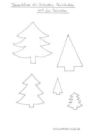 nikolaus und tannenbäume aus transparentpapier fürs fenster - weihnachten-basteln - meine enkel