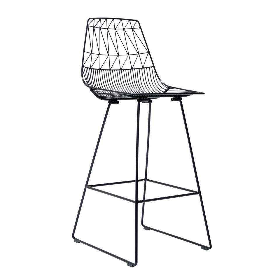 Bend Goods Stainless Steel Iron Wire Lucy Bar Modern Stool