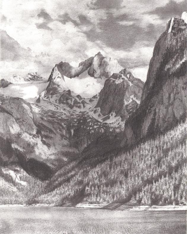 Mountain Pencil Drawing : mountain, pencil, drawing, Pencil, Drawings, Landscape, Drawings,