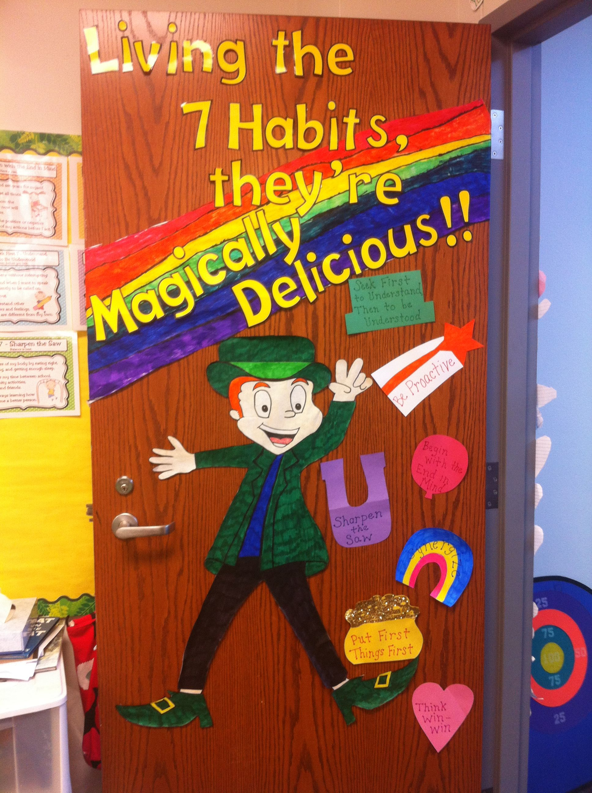 Keeping with the 7 habits and leader in me theme for st for 7 habits decorations