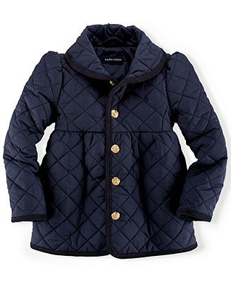 fa9ff0db5 Ralph Lauren Toddler Girls  Quilted Shawl Collar Jacket