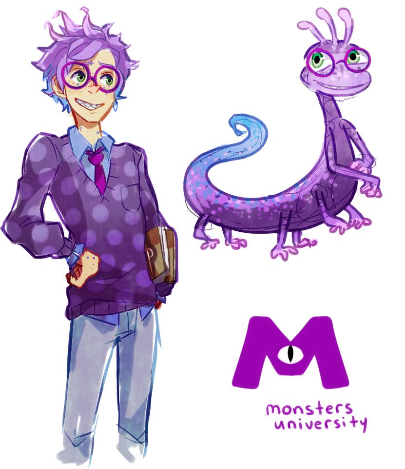 Monsters University  Randall Gijinka by PhantomMarbles  disney