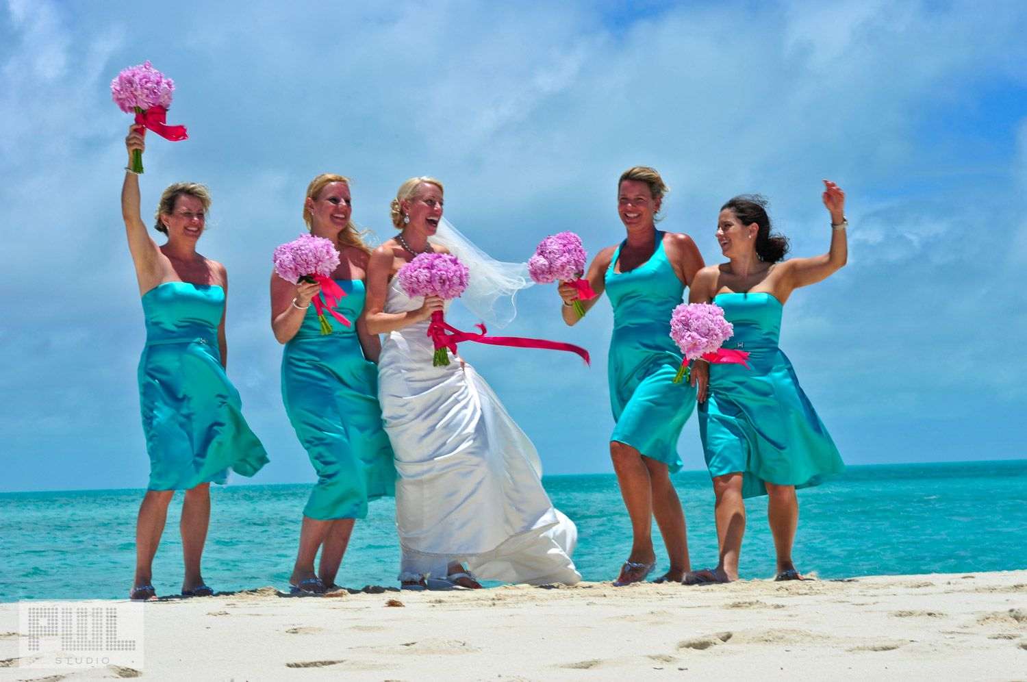 Pink and turquoise wedding theme ideas wedding dash blog post a line asymmetric beading floor length satin chiffon turquoise coral bridesmaid dresses with turquoise jewelry isnt at deaths door ombrellifo Images