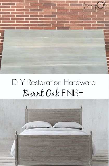 Awesome Video And Tutorial On Diy Restoration Hardware Burnt Oak Driftwood Finish Using Weatherwoodstains Via Fg2b