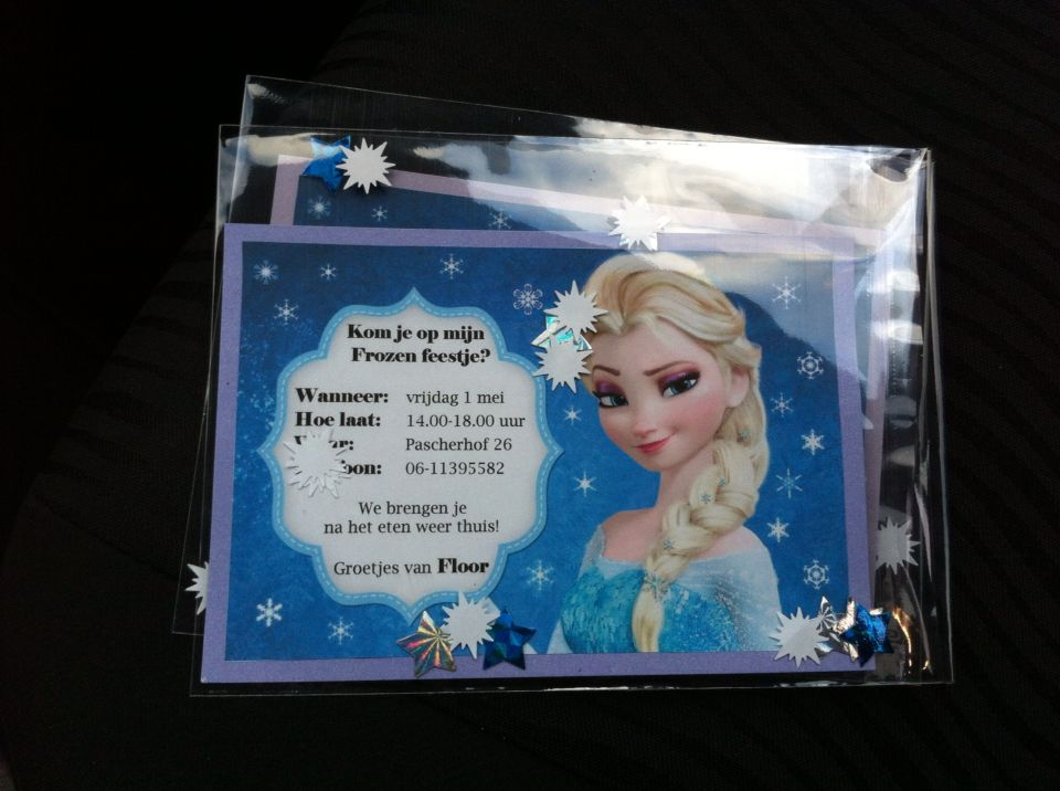 Hedendaags Uitnodiging Frozen kinderfeestje | Frozen feestje, Frozen DE-46