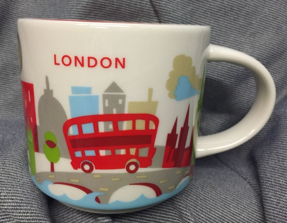 Starbucks London YAH Mug England Bus Big Ben Tower Bridge Cup You Are Here New #Starbucks
