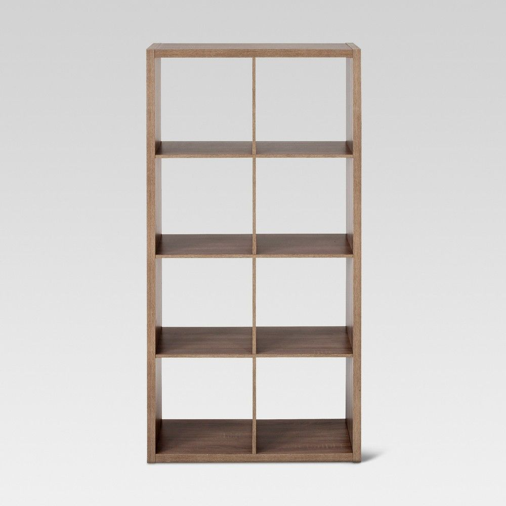 8 Cube Organizer Shelf Weathered Gray 13 Threshold Cube