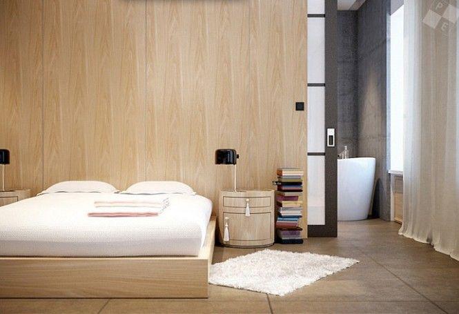 Bed and backwall london loft house renovation