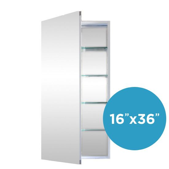 Flawless Bathroom Medicine Cabinets With Mirrors 16x36 Recessed Mount Or  Surface Mount 16 Inches Wide By