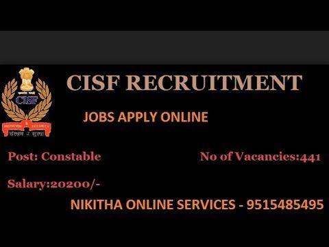 Cisf Recruitment 2017 18 Apply Online 378 Vacancies Cisf Gov In