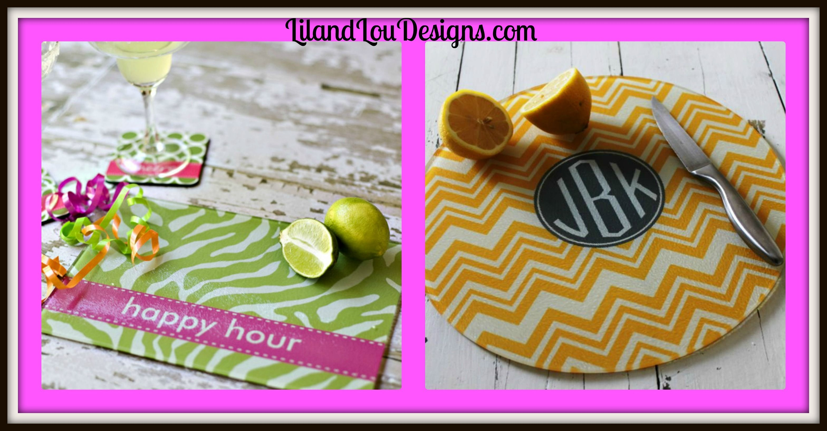 WIN a Personalized cutting board at Lil and Lou Designs - giveaway ends Thursday 25th!