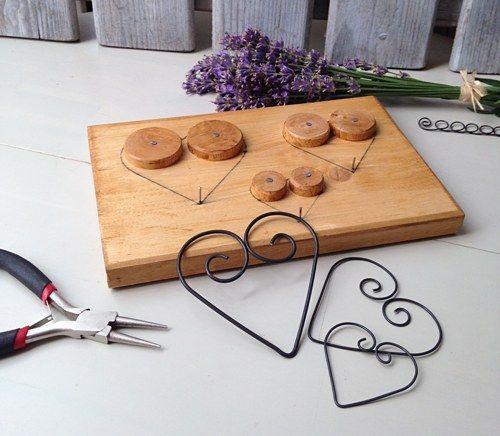 Herzen aus Draht formen | Papier/Draht - Figuren | Pinterest | Draht ...