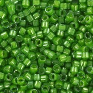 29274-5   miyuki delica's 11/0 - 274 lined luster pea green (5 gr)