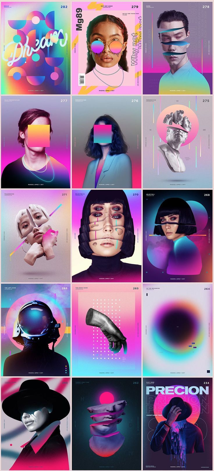 Grafikdesign-Trends 2018 Magdiel ist ein Künstler / Kreativdirektor, der in … #graphicdesign