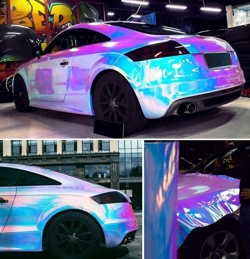 white car wrap colors