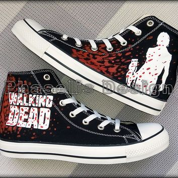The Walking Dead 'Daryl Dixon' Custom Converse Painted Shoes