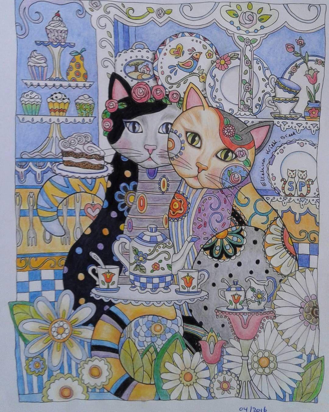Creative Cats Marjorie Sarnatt Ausmalbilder Ausmalen Bilder