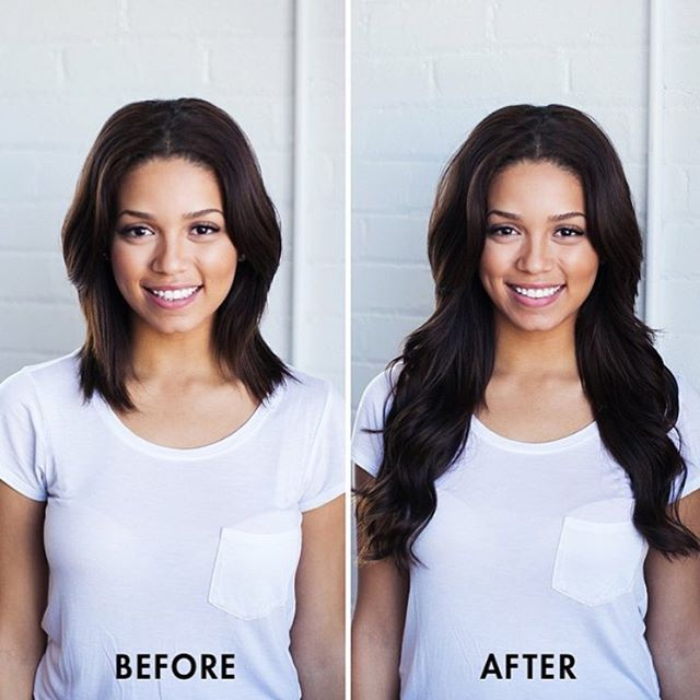Before And After Transformation With 160g Dark Brown Luxy Hair