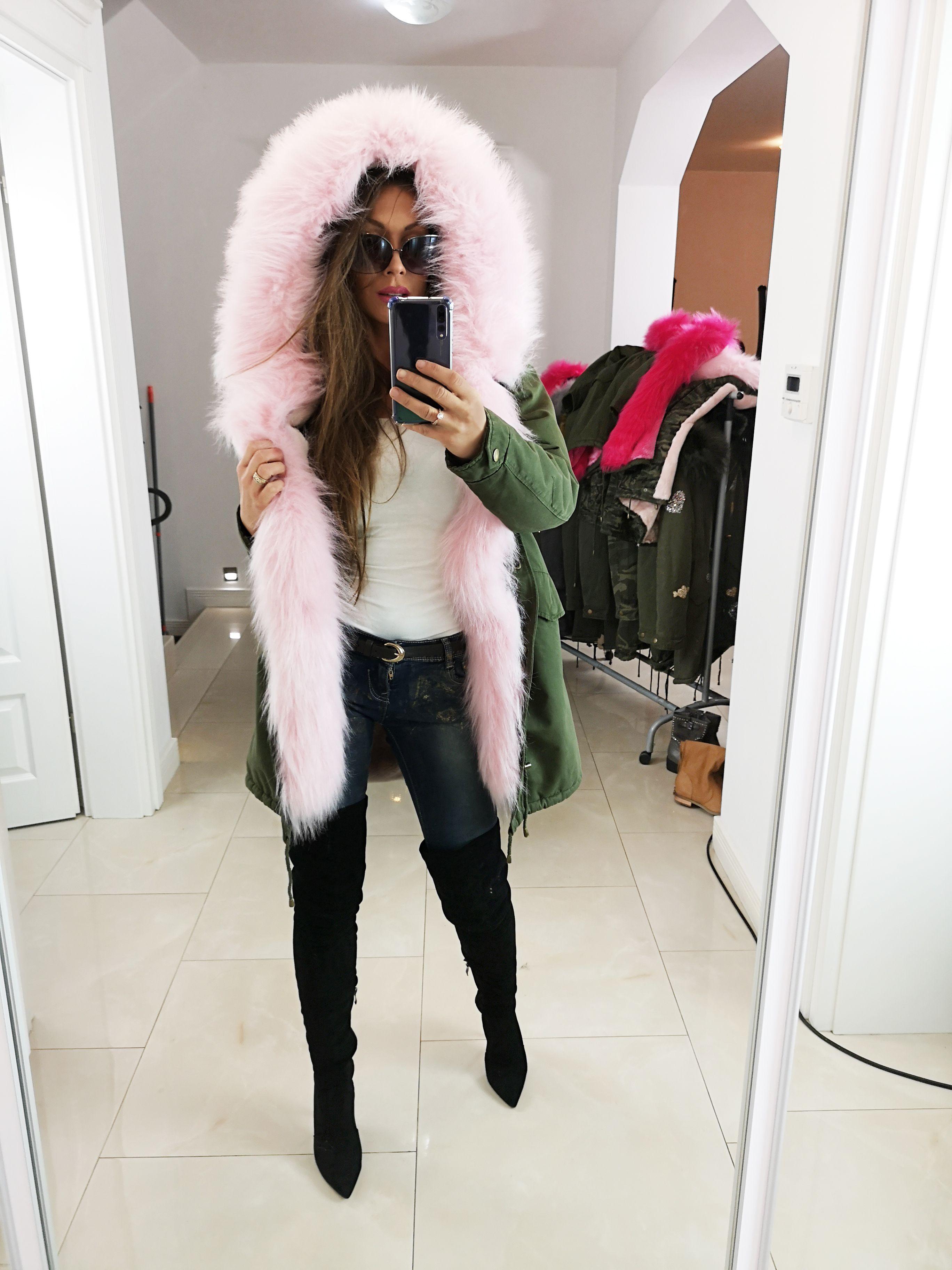 Kurtka Parka Khaki Zimowa Militarna Na Misiu 6205 1 Fashion Coat Fur Coat
