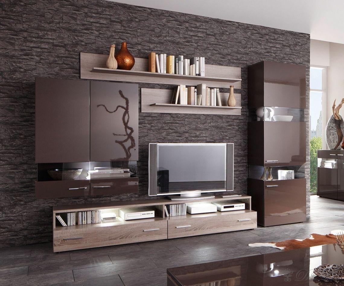 neu wohnzimmer m bel braun tv cabnet pinterest decora o televis o e painel tv. Black Bedroom Furniture Sets. Home Design Ideas